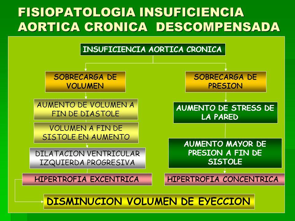 FISIOPATOLOGIA INSUFICIENCIA AORTICA CRONICA DESCOMPENSADA