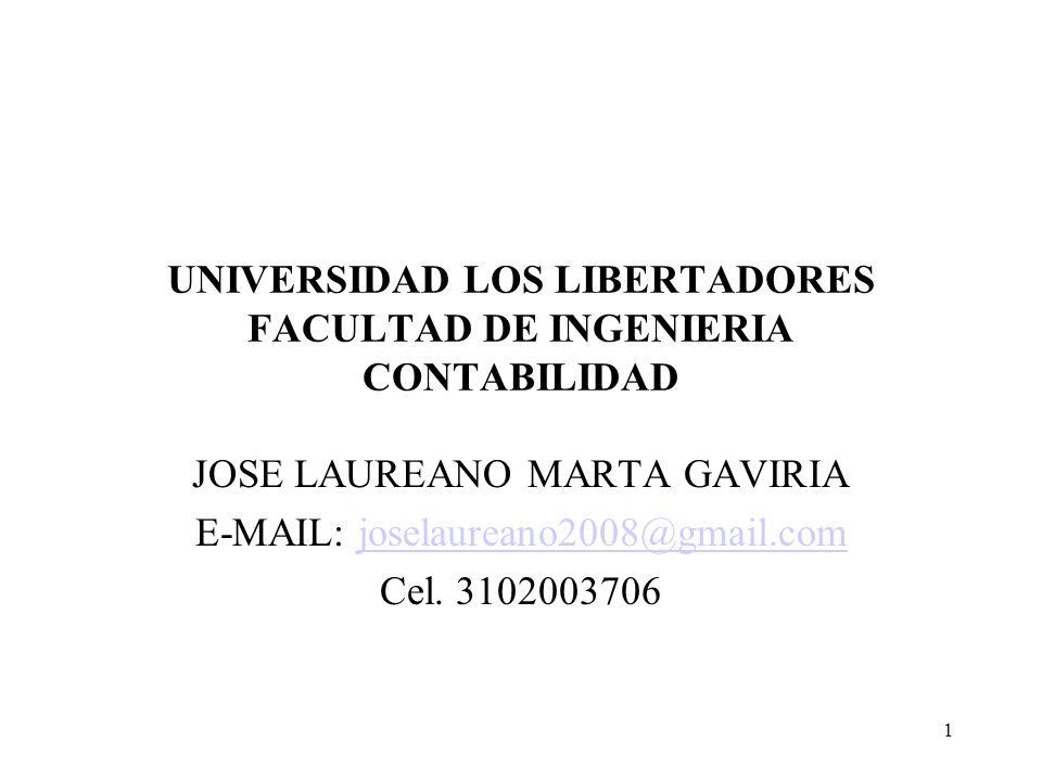 UNIVERSIDAD LOS LIBERTADORES FACULTAD DE INGENIERIA CONTABILIDAD