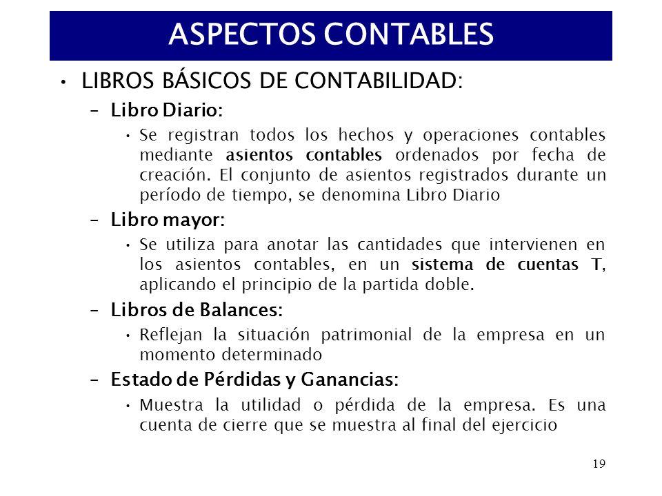 ASPECTOS CONTABLES LIBROS BÁSICOS DE CONTABILIDAD: Libro Diario: