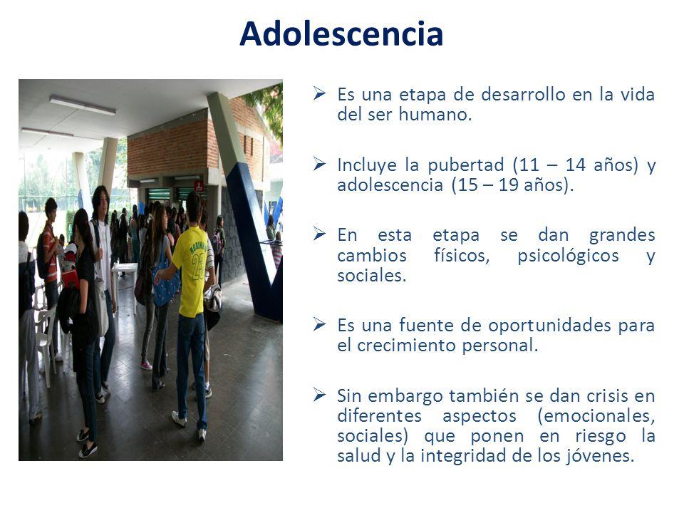 Adolescencia Es una etapa de desarrollo en la vida del ser humano.