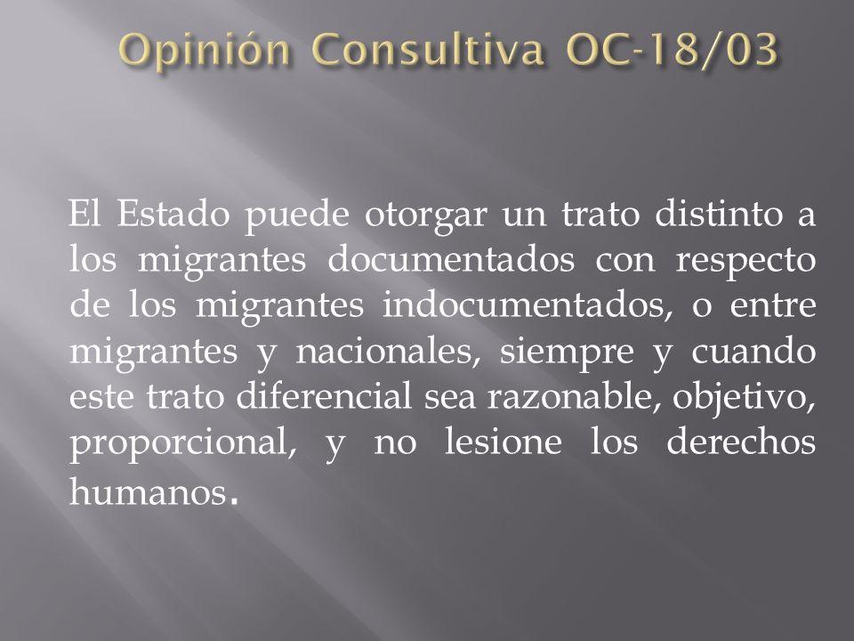 Opinión Consultiva OC-18/03