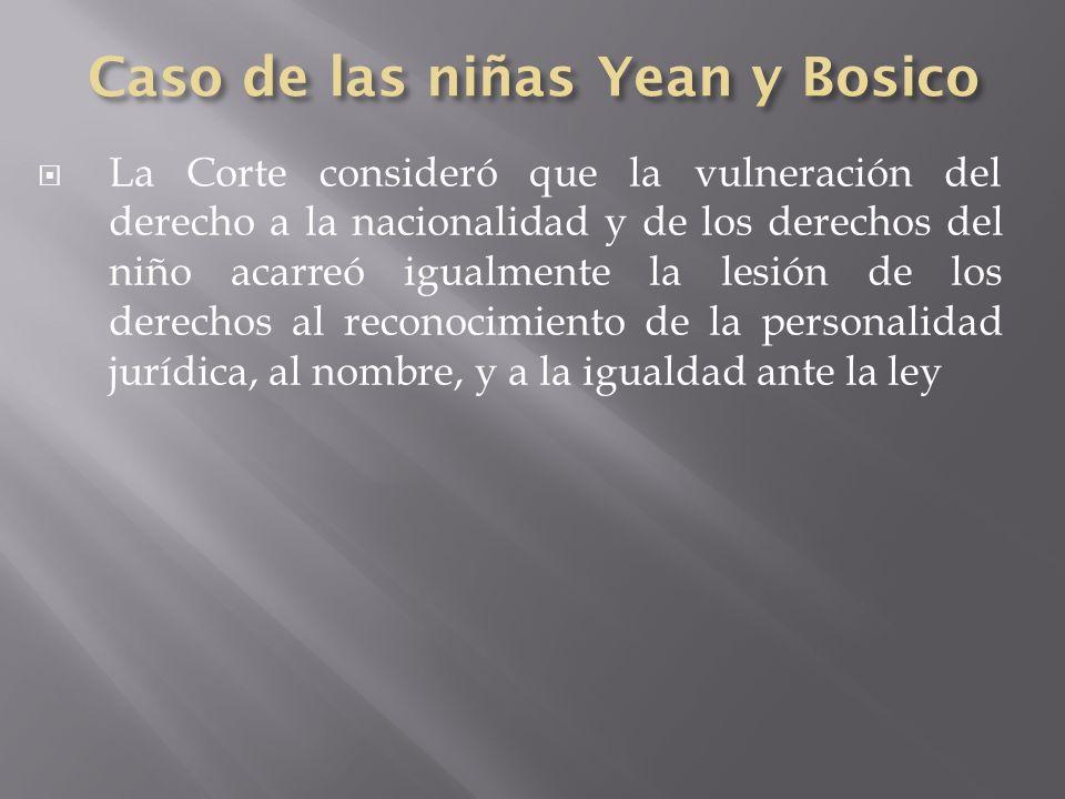Caso de las niñas Yean y Bosico