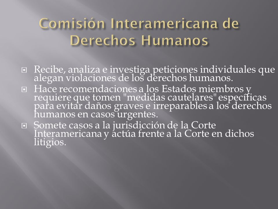 Comisión Interamericana de Derechos Humanos