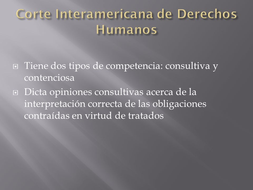 Corte Interamericana de Derechos Humanos