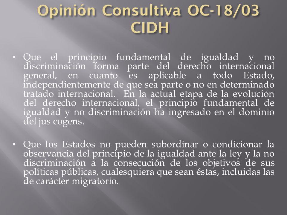 Opinión Consultiva OC-18/03 CIDH