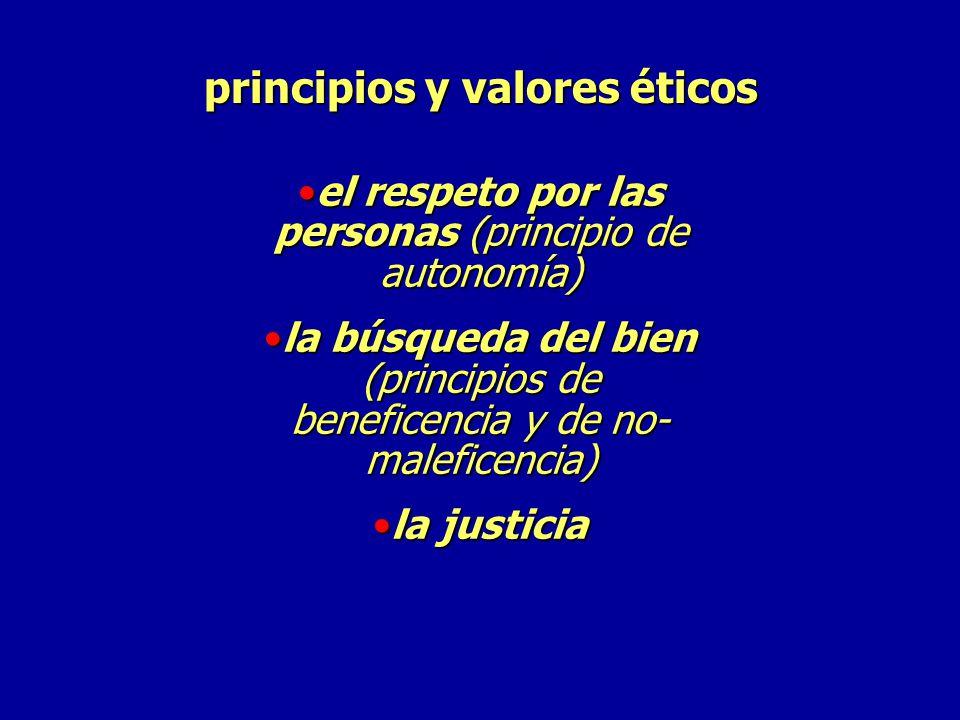 principios y valores éticos