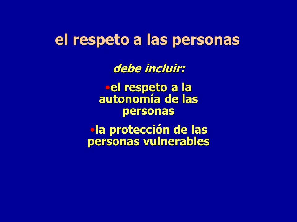el respeto a las personas