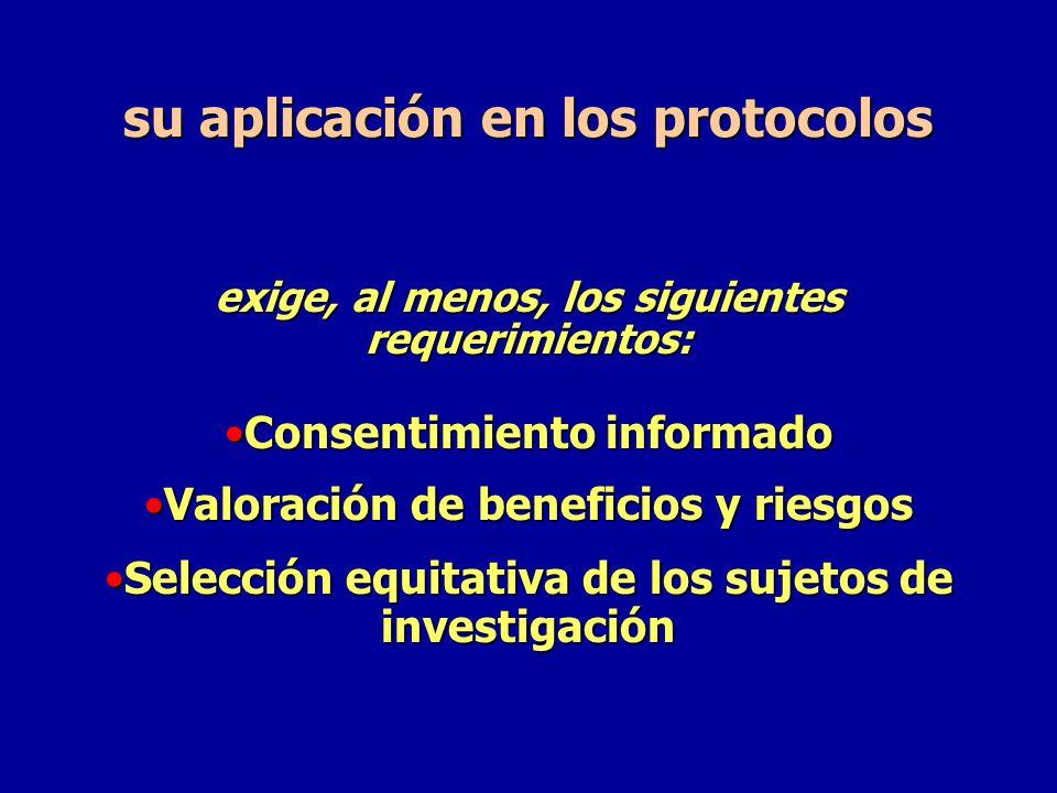 su aplicación en los protocolos