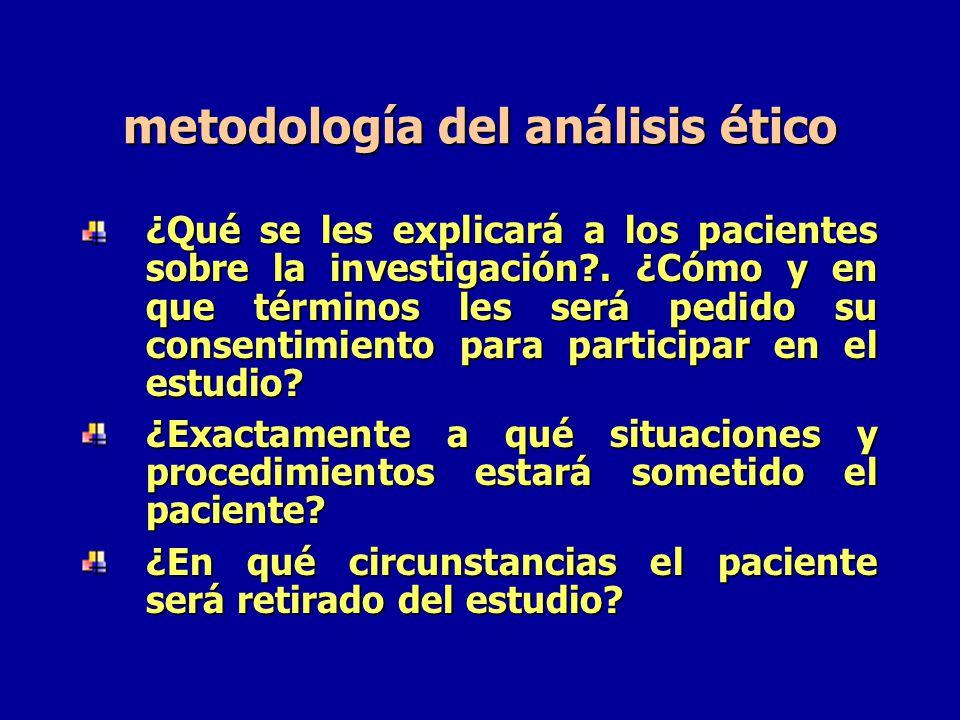 metodología del análisis ético