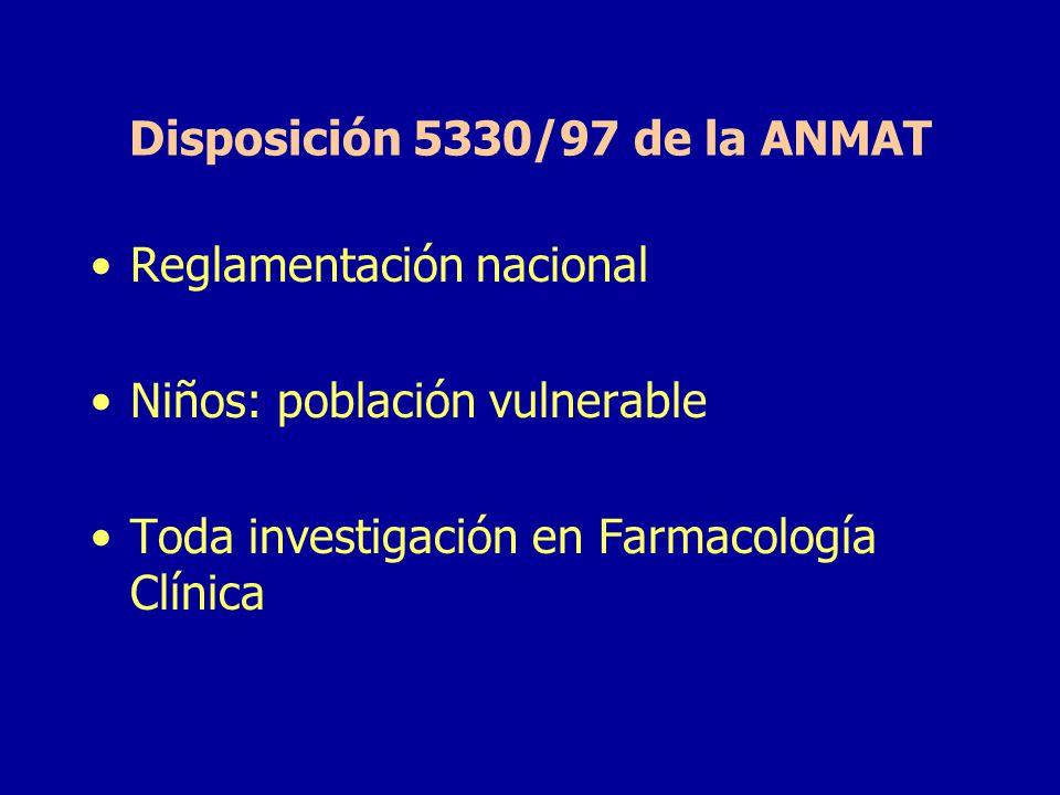 Disposición 5330/97 de la ANMAT