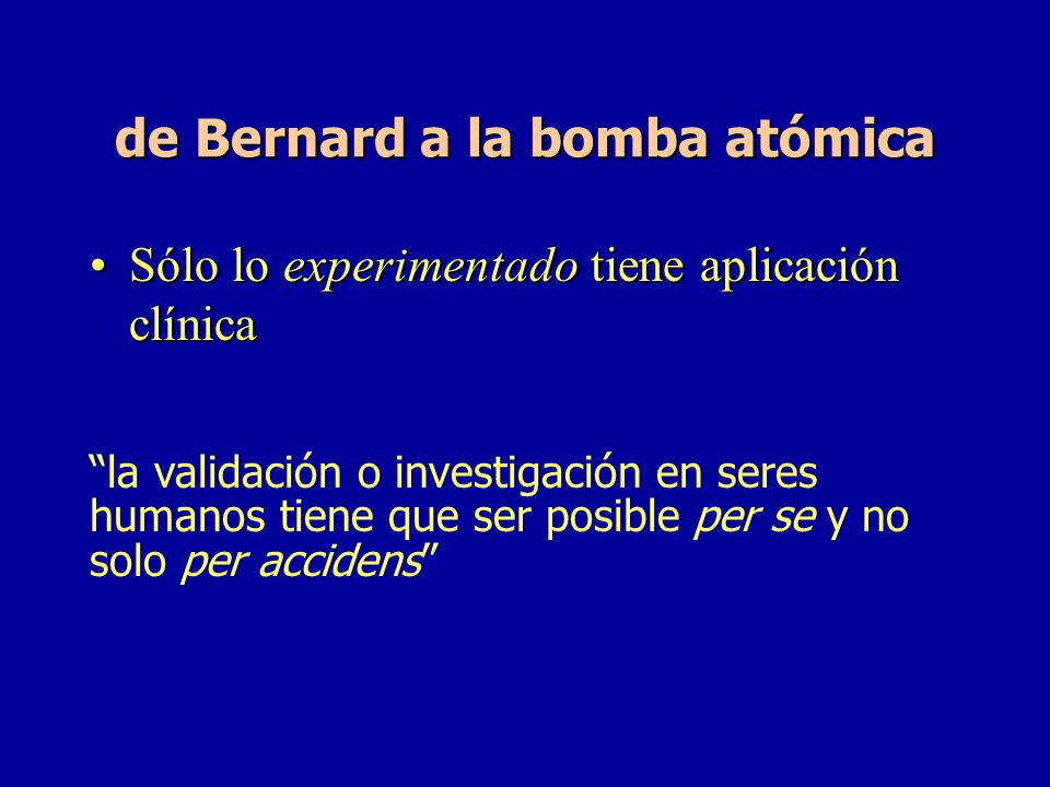 de Bernard a la bomba atómica