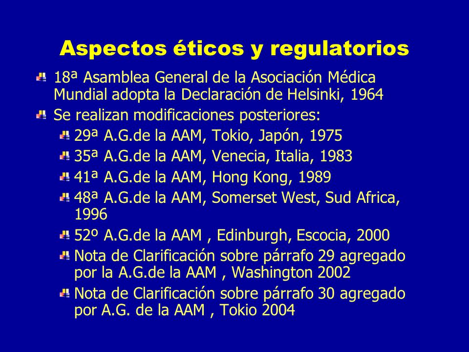 Aspectos éticos y regulatorios