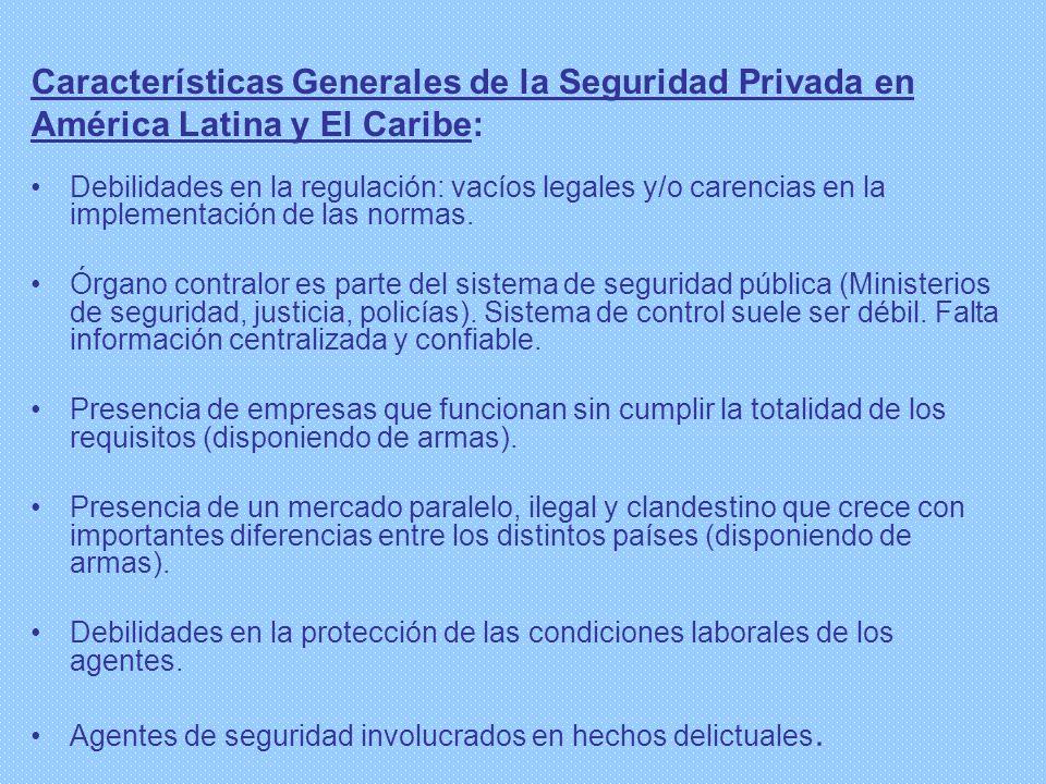 Características Generales de la Seguridad Privada en América Latina y El Caribe: