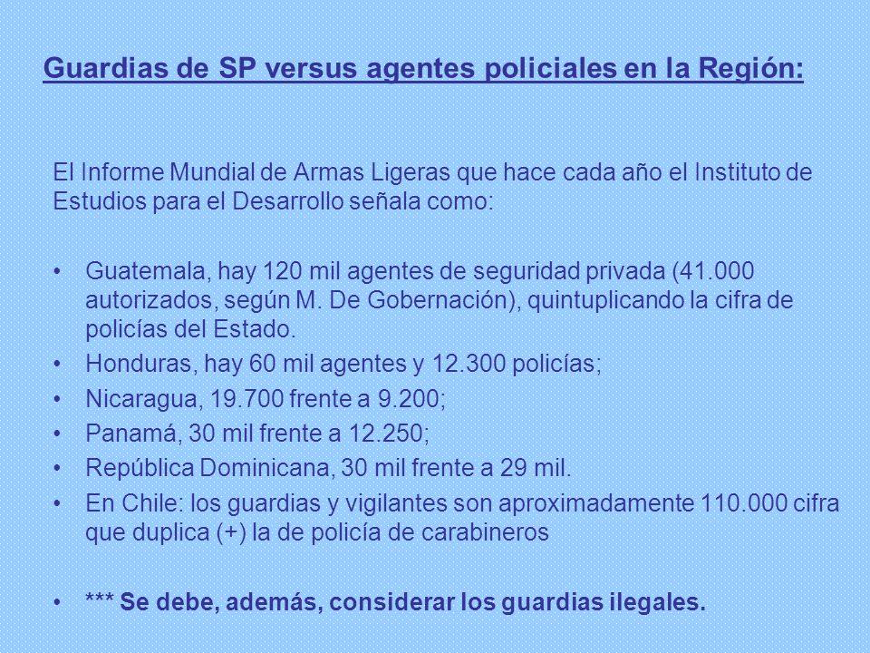 Guardias de SP versus agentes policiales en la Región:
