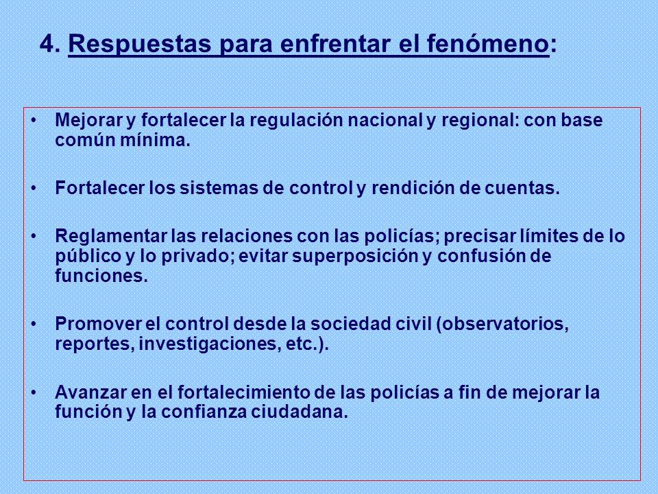 4. Respuestas para enfrentar el fenómeno: