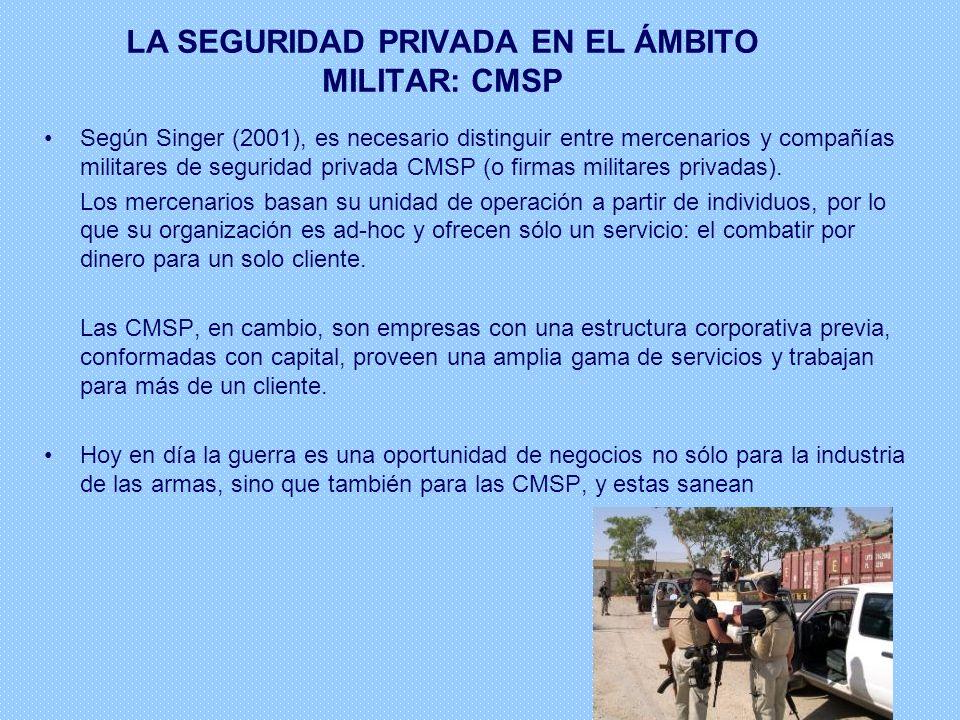 LA SEGURIDAD PRIVADA EN EL ÁMBITO MILITAR: CMSP