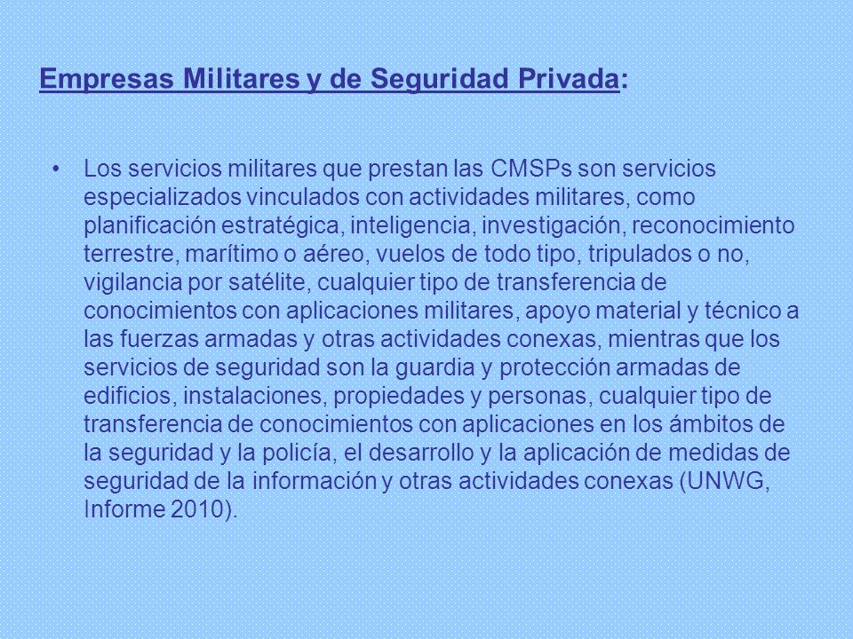 Empresas Militares y de Seguridad Privada: