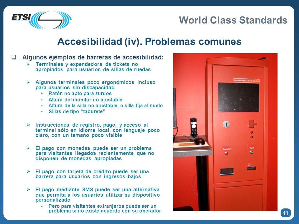 Accesibilidad (iv). Problemas comunes