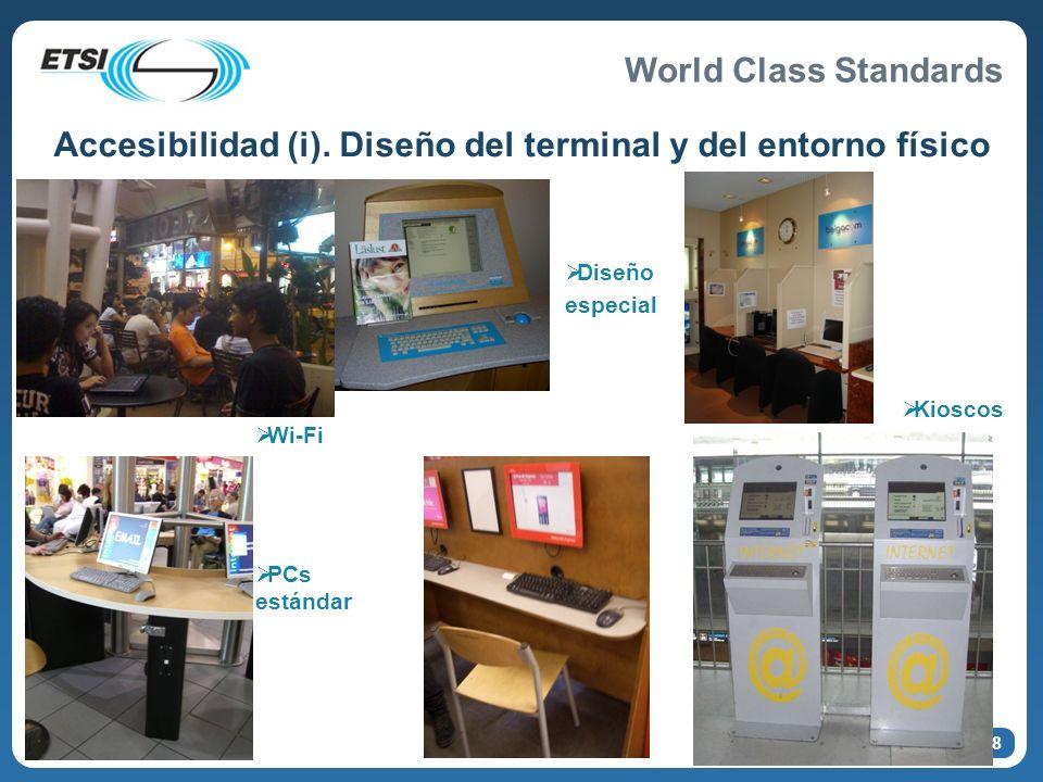 Accesibilidad (i). Diseño del terminal y del entorno físico