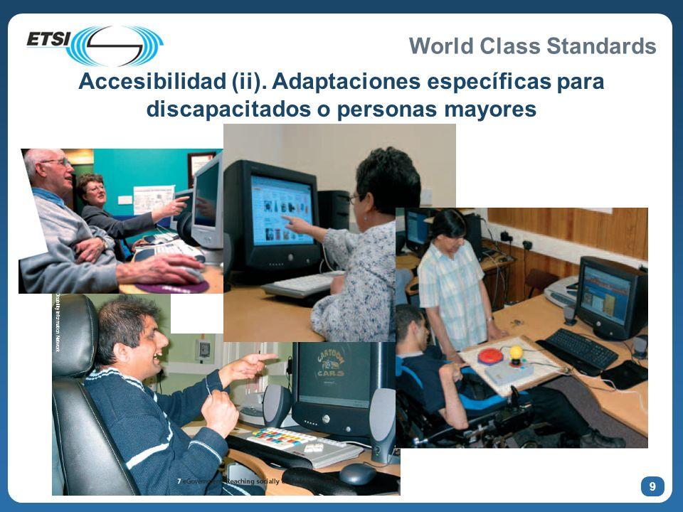 Accesibilidad (ii). Adaptaciones específicas para discapacitados o personas mayores