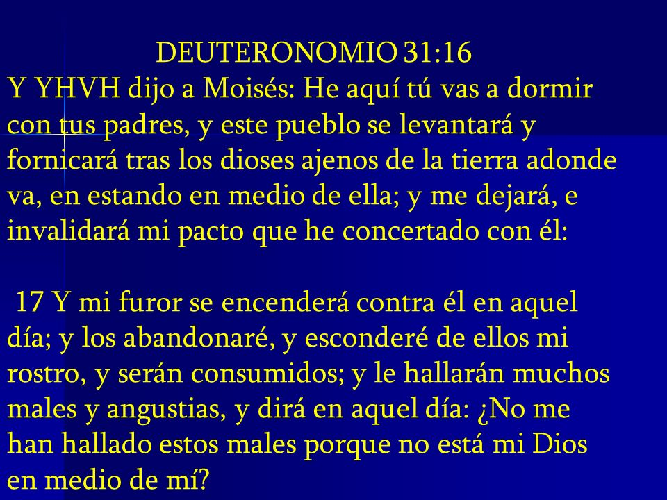 DEUTERONOMIO 31:16