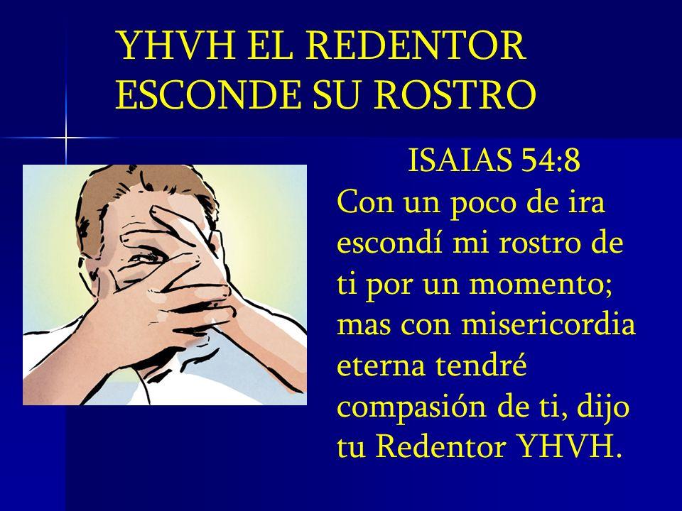 YHVH EL REDENTOR ESCONDE SU ROSTRO ISAIAS 54:8