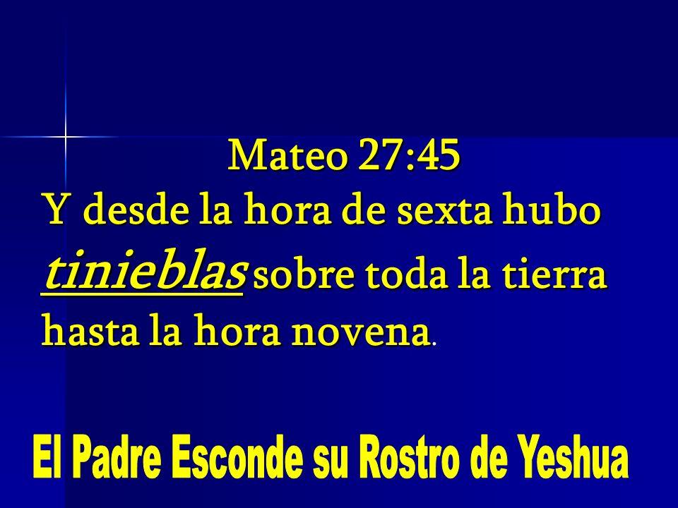 El Padre Esconde su Rostro de Yeshua