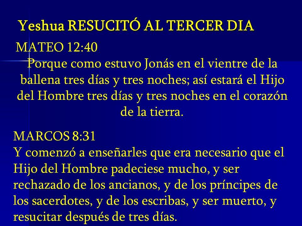 Yeshua RESUCITÓ AL TERCER DIA