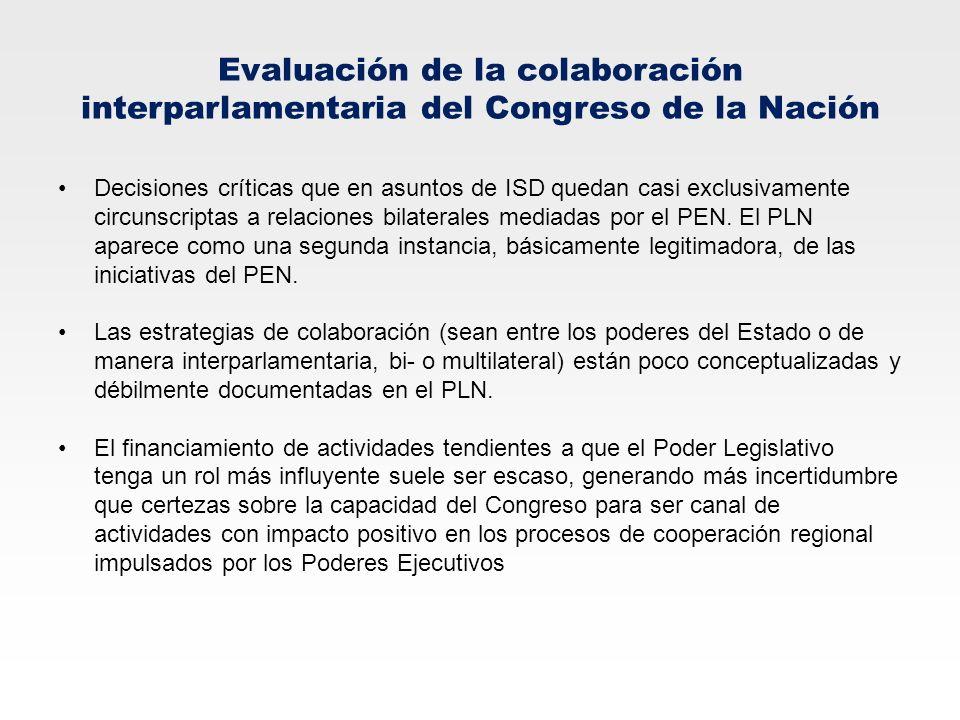 Evaluación de la colaboración interparlamentaria del Congreso de la Nación