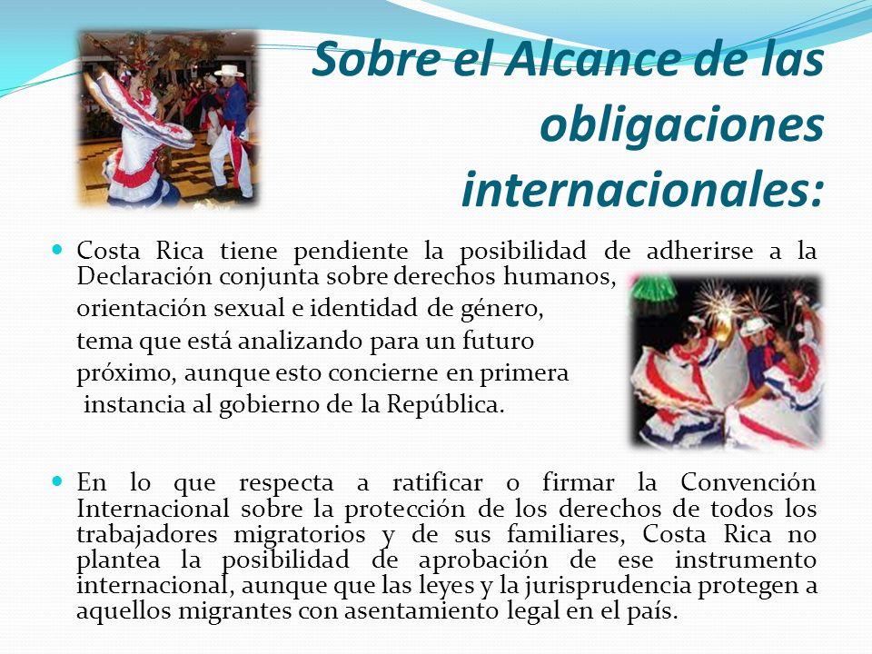 Sobre el Alcance de las obligaciones internacionales: