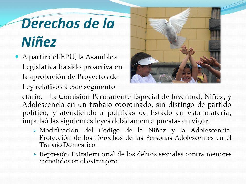 Derechos de la Niñez A partir del EPU, la Asamblea