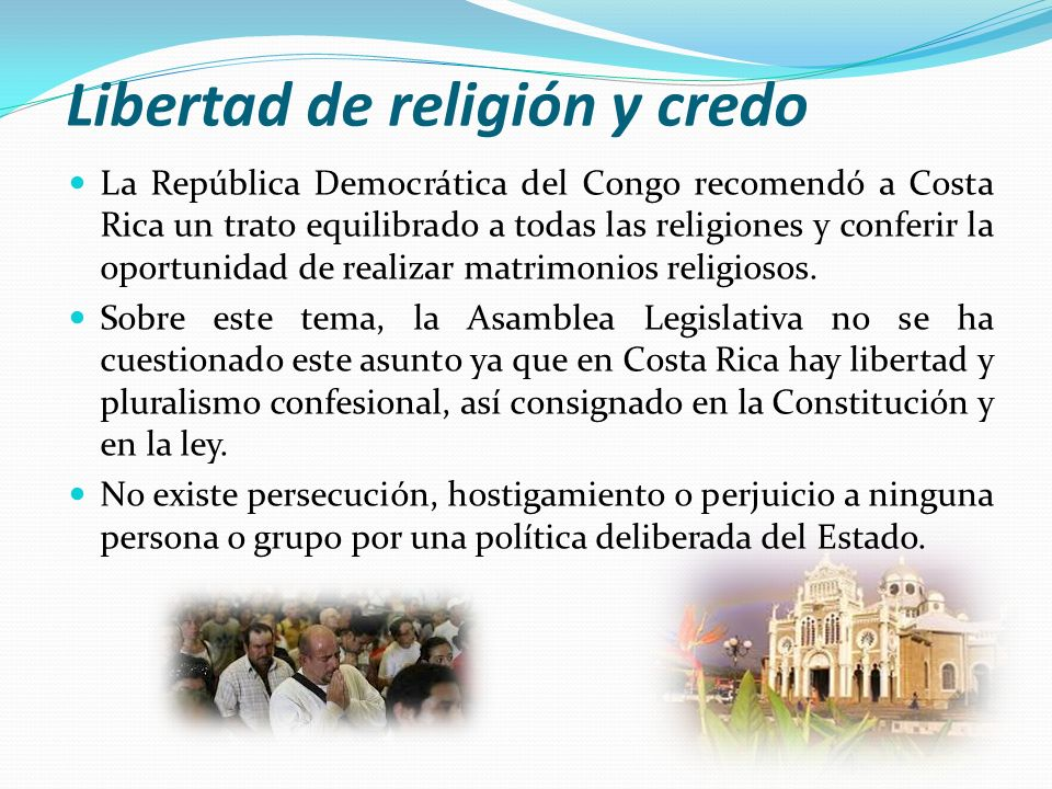 Libertad de religión y credo