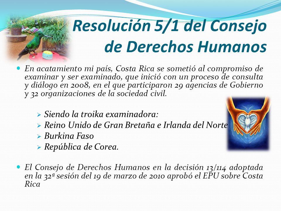 Resolución 5/1 del Consejo de Derechos Humanos