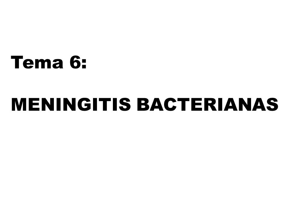 MENINGITIS BACTERIANAS