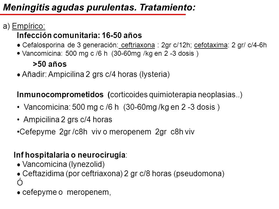 Meningitis agudas purulentas. Tratamiento: