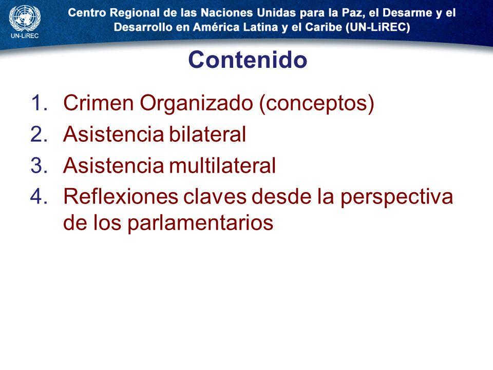 Contenido Crimen Organizado (conceptos) Asistencia bilateral