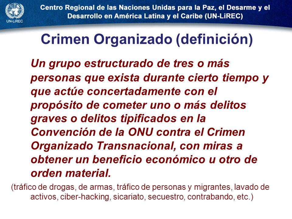 Crimen Organizado (definición)