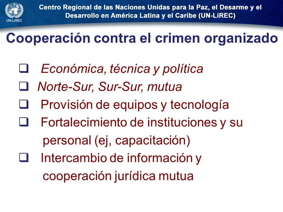 Cooperación contra el crimen organizado