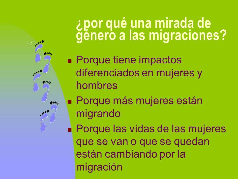 ¿por qué una mirada de género a las migraciones
