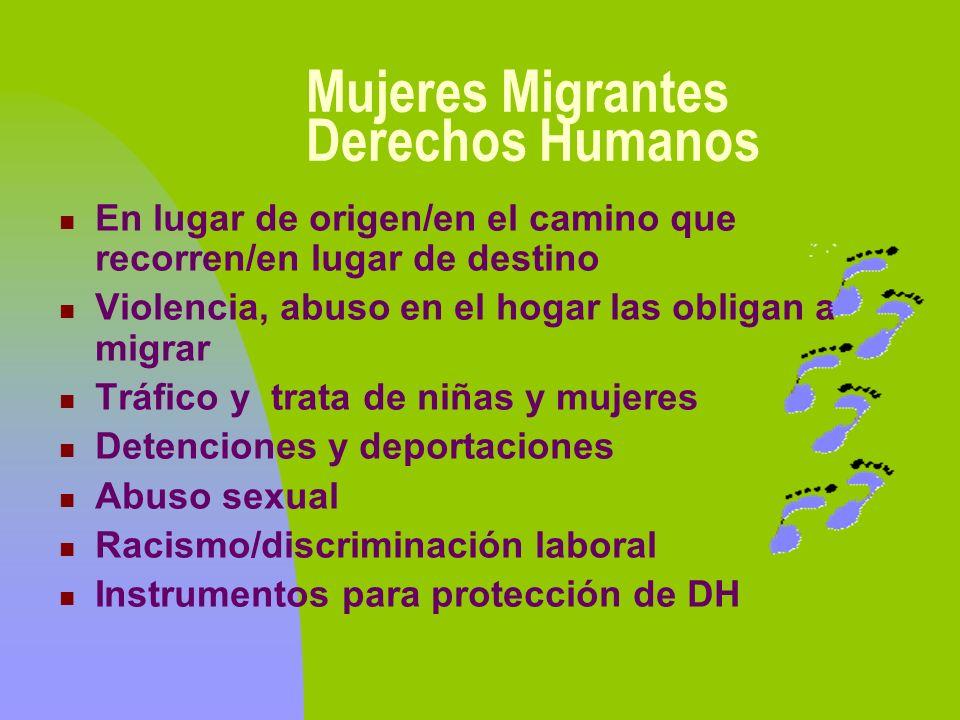 Mujeres Migrantes Derechos Humanos