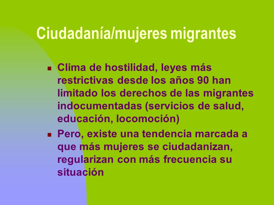Ciudadanía/mujeres migrantes