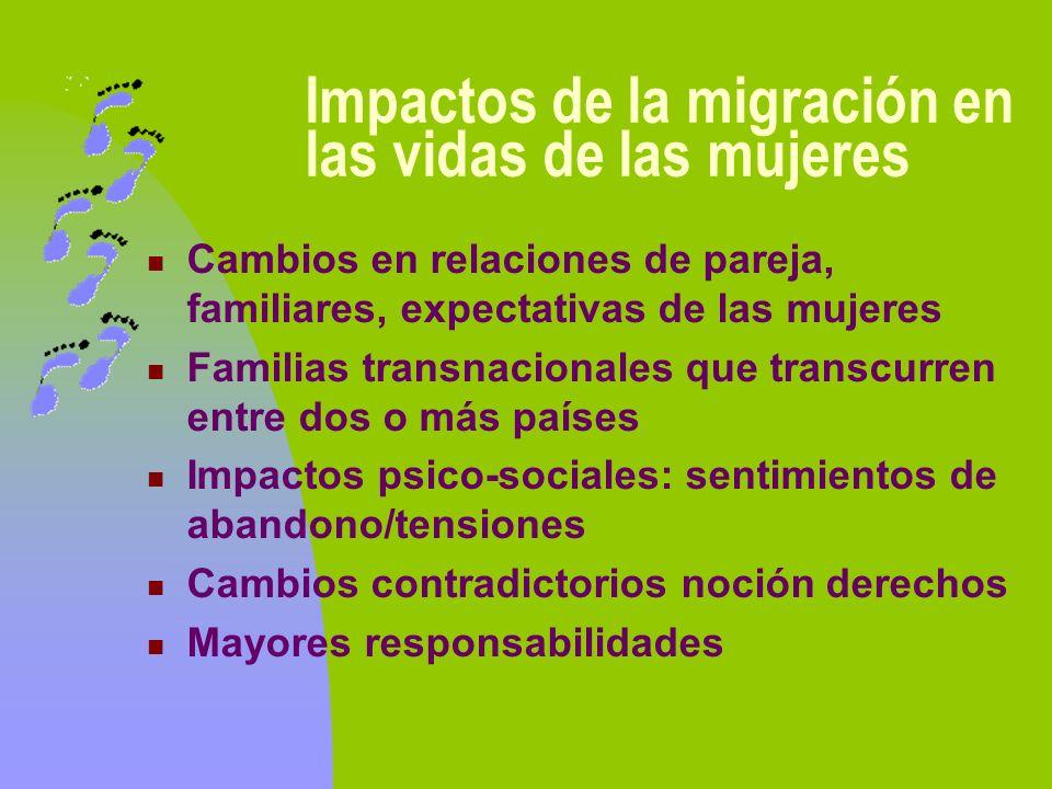 Impactos de la migración en las vidas de las mujeres