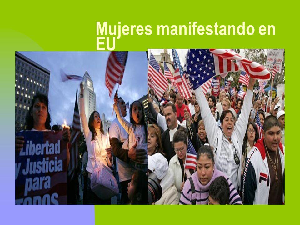 Mujeres manifestando en EU