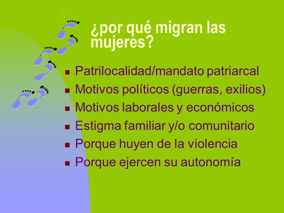 ¿por qué migran las mujeres