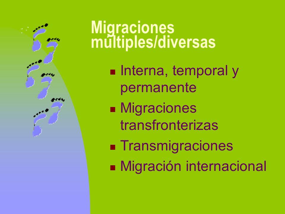 Migraciones múltiples/diversas