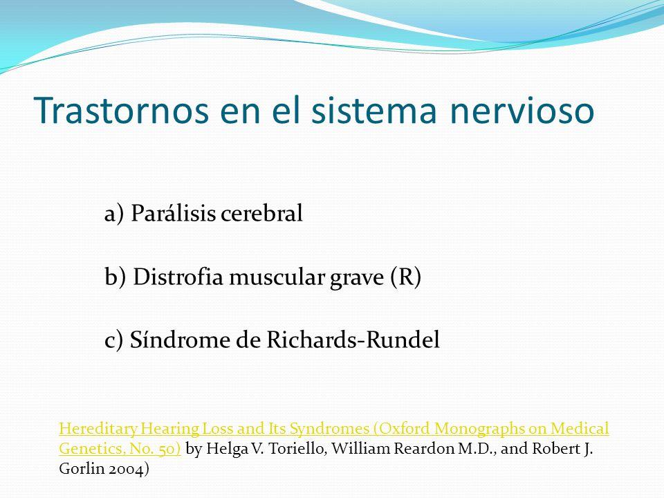 Trastornos en el sistema nervioso