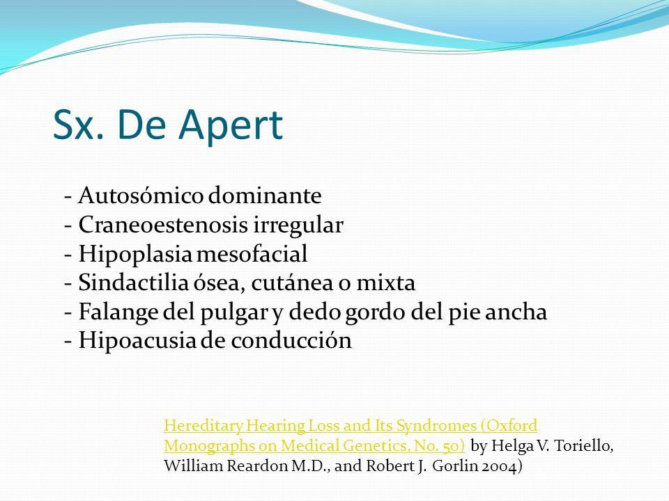 Sx. De Apert