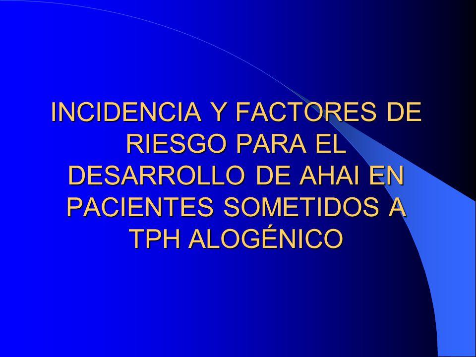 INCIDENCIA Y FACTORES DE RIESGO PARA EL DESARROLLO DE AHAI EN PACIENTES SOMETIDOS A TPH ALOGÉNICO