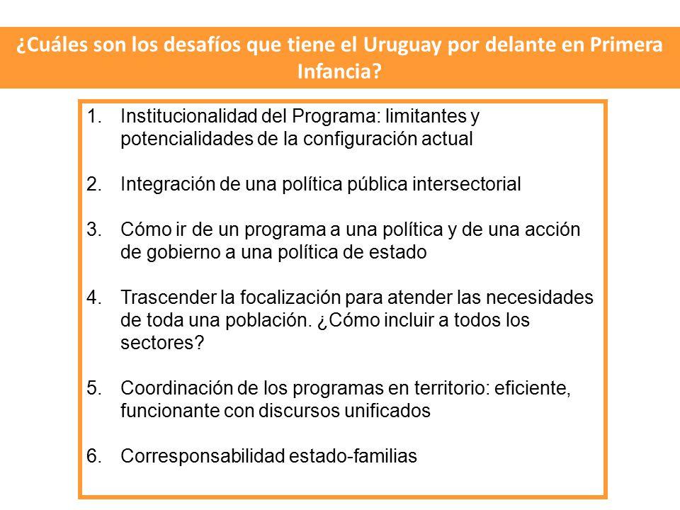 ¿Cuáles son los desafíos que tiene el Uruguay por delante en Primera Infancia