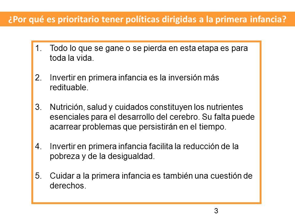 ¿Por qué es prioritario tener políticas dirigidas a la primera infancia